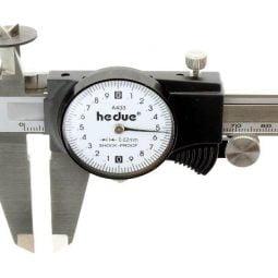 Șubler din oțel inoxidabil cu ceas comparator 200 mm/0,02 mm