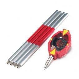 GMP111-0, Set minivizare prisma mica constanta 0 si GLS115 jalon mini 1.30m