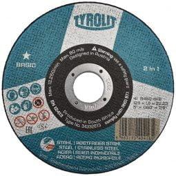Disc abraziv pentru taiat metalinox 2in1, 125×1,6×22_23